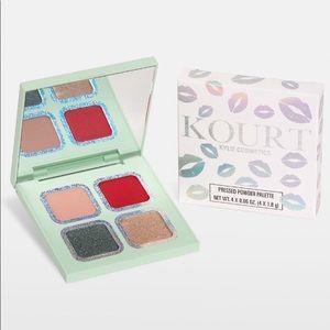 KourtXKylie green eyeshadow palette